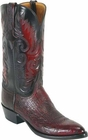 Mens Lucchese Classics Black Cherry Smooth Ostrich Custom Hand-Made Cowboy Boots L1203