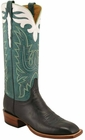 Mens Lucchese Classics Black Cutter Custom Hand-Made Cowboy Boots L8009