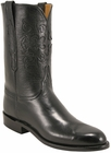 Mens Lucchese Classics Black Domingo Goat Custom Hand-Made Roper Boots L3545