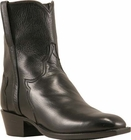 Mens Lucchese Classics Black Florence Buffalo Calf Custom Hand-Made Side Zip Pony Boots F5051
