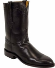 Mens Lucchese Classics Black Glove Calf Custom Hand-Made Roper Boots L3526