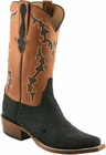 Mens Lucchese Classics Black Hippo Custom Hand-Made Cowboy Boots L1422