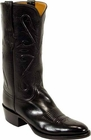 Mens Lucchese Classics Black Kangaroo Custom Hand-Made Cowboy Boots L1501