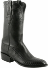 Mens Lucchese Classics Black Lizard with Kennedy Band Custom Hand-Made Leather Boots L9400