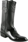 Mens Lucchese Classics Black Patent Calf Custom Hand-Made San Antonio Dress Collection Cowboy Boots L9504