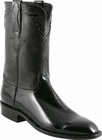 Mens Lucchese Classics Black Patent Calf Custom Hand-Made San Antonio Dress Collection Roper Boots L9576