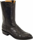 Mens Lucchese Classics Black Quill Ostrich Custom Hand-Made Roper Boots L3084