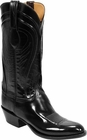 Mens Lucchese Classics Black Seville Goat Custom Hand-Made Cowboy Boots L1508