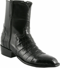 Mens Lucchese Classics Black Ultra Belly Crocodile Custom Hand-Made San Antonio Dress Collection Pony Boots F5057
