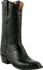Mens Lucchese Classics Black Ultra Crocodile Belly Custom Hand-Made Cowboy Boots L1410