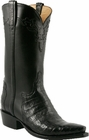 Mens Lucchese Classics Black Ultra Crocodile Belly Custom Hand-Made Cowboy Boots L1418