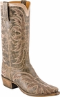 Mens Lucchese Classics Brown Aviator Calf Leather Custom Hand-Made Boots L1683