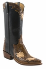 Mens Lucchese Classics Brown Pawnee Floral Hand-Tooled Design Custom Hand-Made Leather Boots L1675