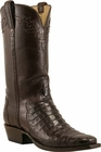 Mens Lucchese Classics Chocolate Caiman Crocodile Belly Custom Hand-Made Cowboy Boots L1393