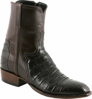 Mens Lucchese Classics Chocolate Ultra Belly Crocodile Custom Hand-Made San Antonio Dress Collection Pony Boots F5059
