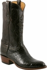 Mens Lucchese Classics Chocolate Ultra Crocodile Belly Custom Hand-Made Cowboy Boots L1411