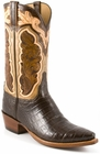 Mens Lucchese Classics Chocolate Ultra Crocodile Belly Custom Hand-Made Cowboy Boots L1412