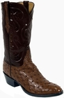 Mens Lucchese Classics Sienna Full Quill Ostrich Custom Hand-Made Leather Boots L1222