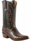 Mens Lucchese Classics Cognac Burnished Waxy Caiman Belly Hand-Made Cowboy Boots E2143