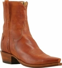 Mens Lucchese Classics Cognac Florence Buffalo Calf Custom Hand-Made Side Zip Pony Boots F5052