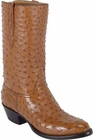 Mens Lucchese Classics Cognac Full Quill Ostrich Custom Hand-Made Cowboy Boots L1161