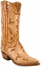 Mens Lucchese Classics Hand Tooled Leather Custom Hand-Made Cowboy Boots L1633