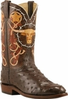 Mens Lucchese Classics Nicotine Full Quill Ostrich Custom Hand-Made Cowboy Boots L3148