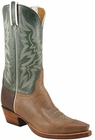 Mens Lucchese Classics Olive With Dark & Light Brown Oil Calf Custom Hand-Made Cowboy Boots L1626
