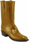 Mens Lucchese Classics Peanut Brittle Alligator Belly Custom Hand-Made Cowboy Boots L1069