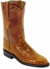 Mens Lucchese Classics Peanut Brittle Belly American Alligator Custom Hand-Made Roper Boots L3023