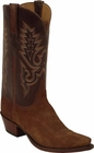 Mens Lucchese Classics Rust Cashmere Suede Custom Hand-Made Cowboy Boots L1575
