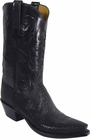 Mens Lucchese Classics Shaved Black Stingray Custom Hand-Made Cowboy Boots L1313