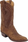 Mens Lucchese Classics Tan Cashmere Suede Custom Hand-Made Cowboy Boots L1574