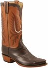 Mens Lucchese Classics Vintage Collection Chocolate Glove Calf Custom Hand-Made Cowboy Boots L1657