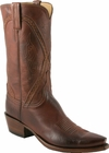 Mens Lucchese Classics Whiskey Burnished Baby Buffalo Custom Hand-Made Cowboy Boots L1661