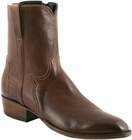 Mens Lucchese Classics Whiskey Burnished Buffalo Custom Hand-Made San Antonio Dress Collection Pony Boots F5055