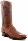 "Men's Lucchese ""Chisum"" Barnwood Full Quill Ostrich Leather Boots N1062"