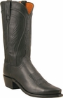 """Mens Lucchese """"Bart"""" Black Burnished Ranch Hand Cowboy Boots N1597"""