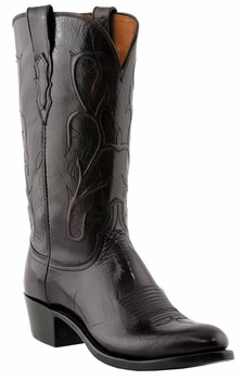 Mens Lucchese Heritage Black Cherry Buffalo N1653