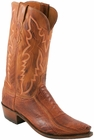 "Men's Lucchese ""Driscoll"" Brandy & Cognac Burnished Ostrich Leg Boots N1121"