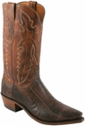"""Men's Lucchese """"Driscoll"""" Chocolate Burnished Ostrich Leg Leather Boots N1119"""