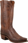 """Mens Lucchese """"Bart"""" Mens Tan Burnished Ranch Hand Cowboy Boots N1596"""