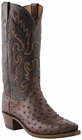"""Men's Lucchese """"Chisum"""" Sienna & Chocolate Pin Ostrich Leather Boots N1132"""