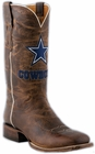 Mens Lucchese NFL Dallas Cowboys Tan Madras Goat Cowboy Boots M1042