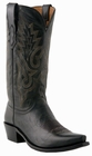 """Mens Lucchese """"Lewis"""" Black Madras Goat Boots M1007"""