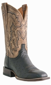Mens Lucchese Since 1883 Black Smooth Ostrich Messina Cowboy Boots M1806