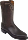 Mens Lucchese Since 1883 Chocolate Burnished Mad Dog Goat Wellington Roper Boots T0122