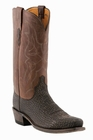 """Men's Lucchese """"Carl"""" Chocolate & Brown Sanded Shark Leather Boot M3105"""