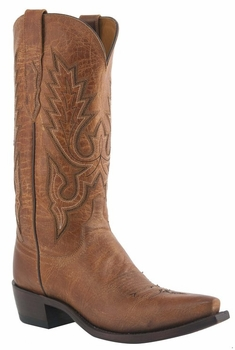 """Mens Lucchese """"Lewis"""" Tan Mad Dog Goat Boots M1008"""