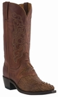 "Men's Lucchese ""Beauford"" Tan Burnished Hornback Caiman Headcut Leather Boots M2536"